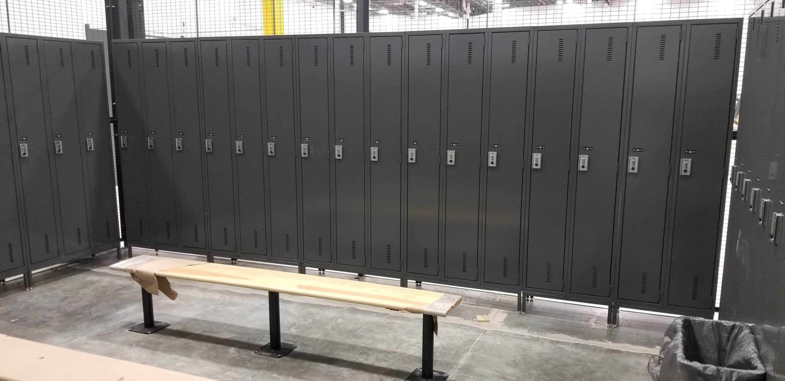 One tier lockers on legs