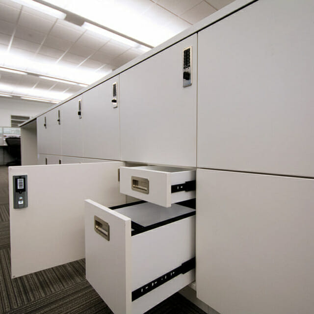 Hamilton Casework Lockers with Interior Drawers - Islands