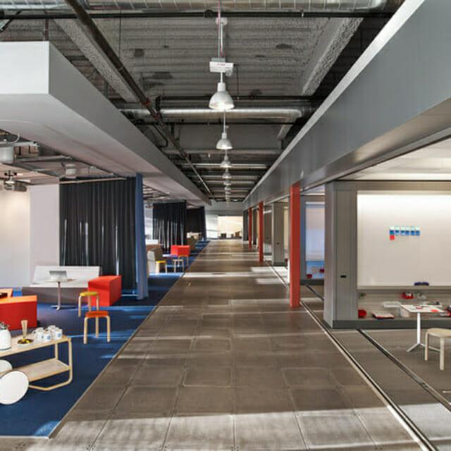 Sliding walls at GE Innovation Center - Movable Walls