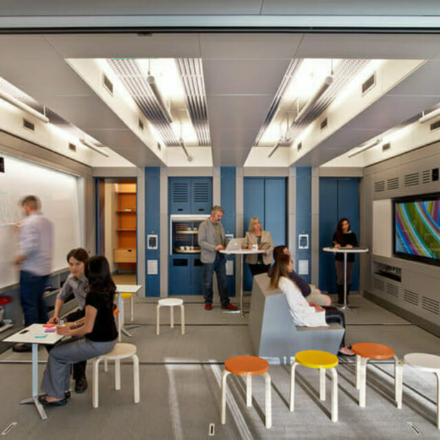 Movable Walls with technology for large group meetings