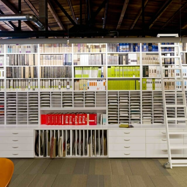 Modular Casework Storage Wall for Materials Library