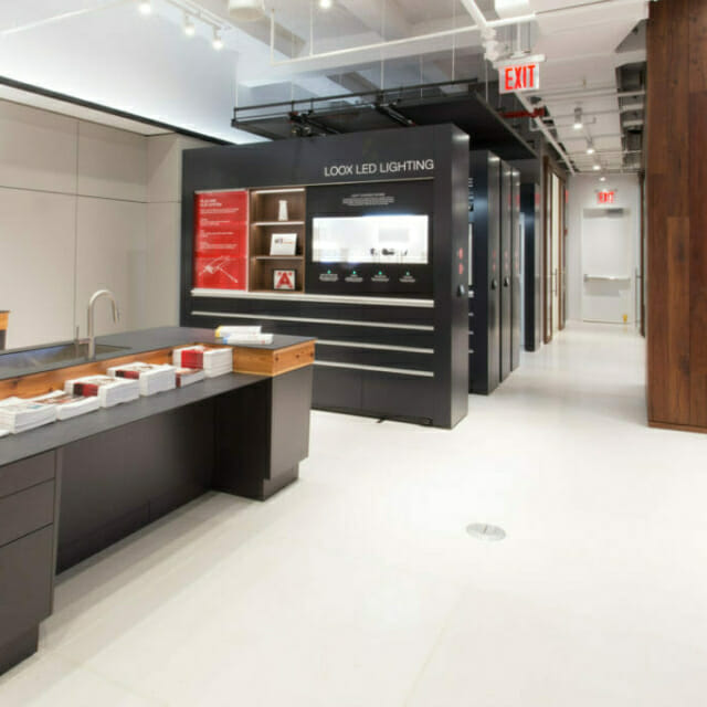 Movable Wall for Retail Display at Hafele