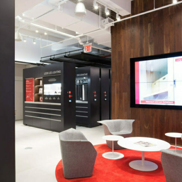 Hafele Showroom with Movable Walls for New Product Display