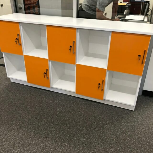 Laminate Lockers with Shelving