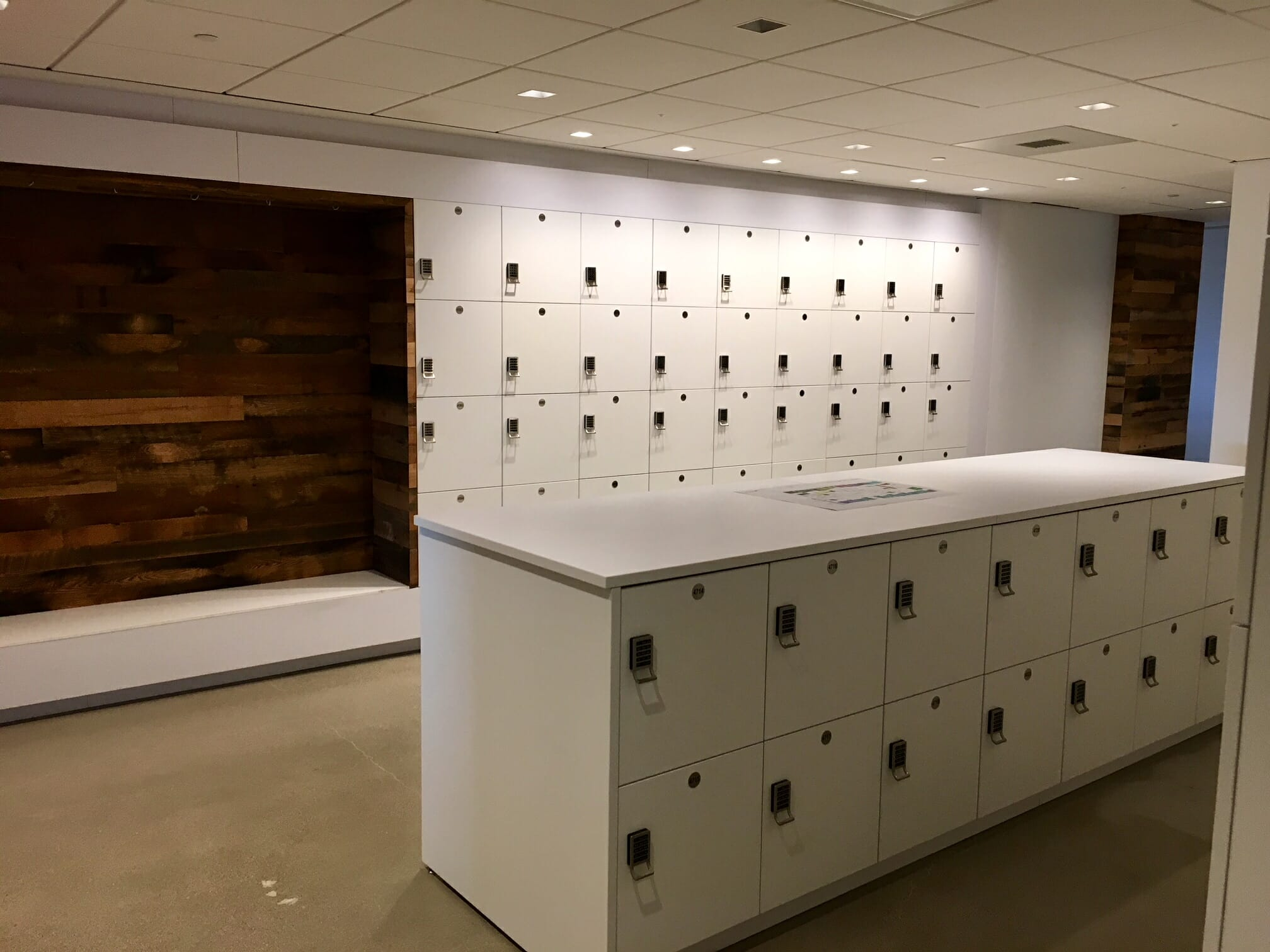 Laminate Day Use Lockers in island
