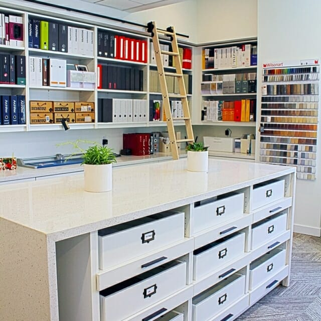 solid surface custom island workplace architect