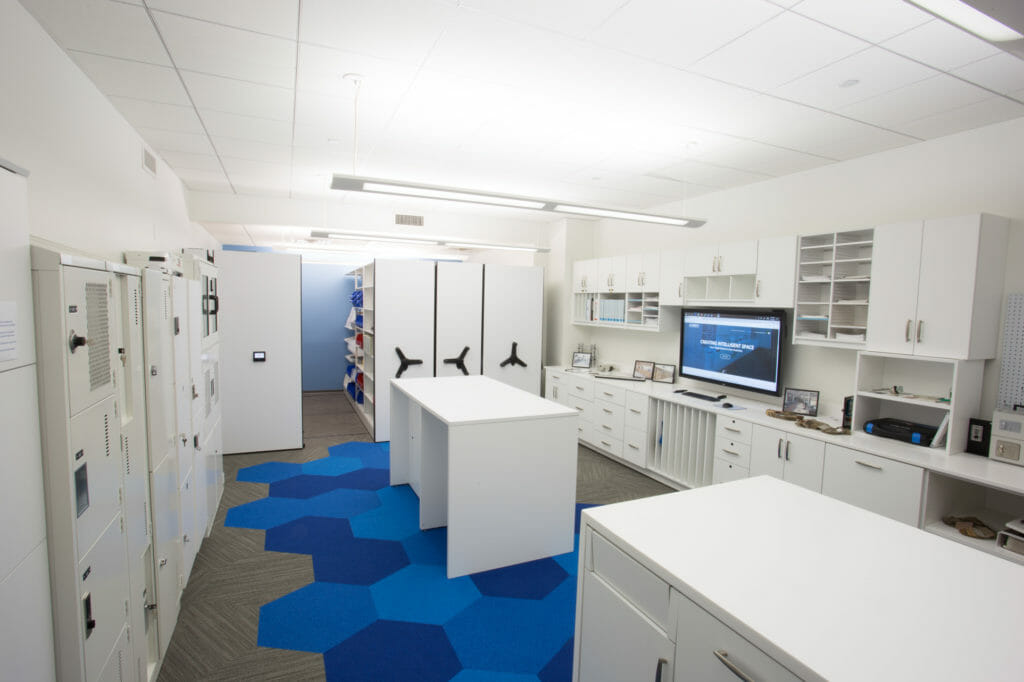 Hafele Movable Wall Display Showroom - Modern Office Systems