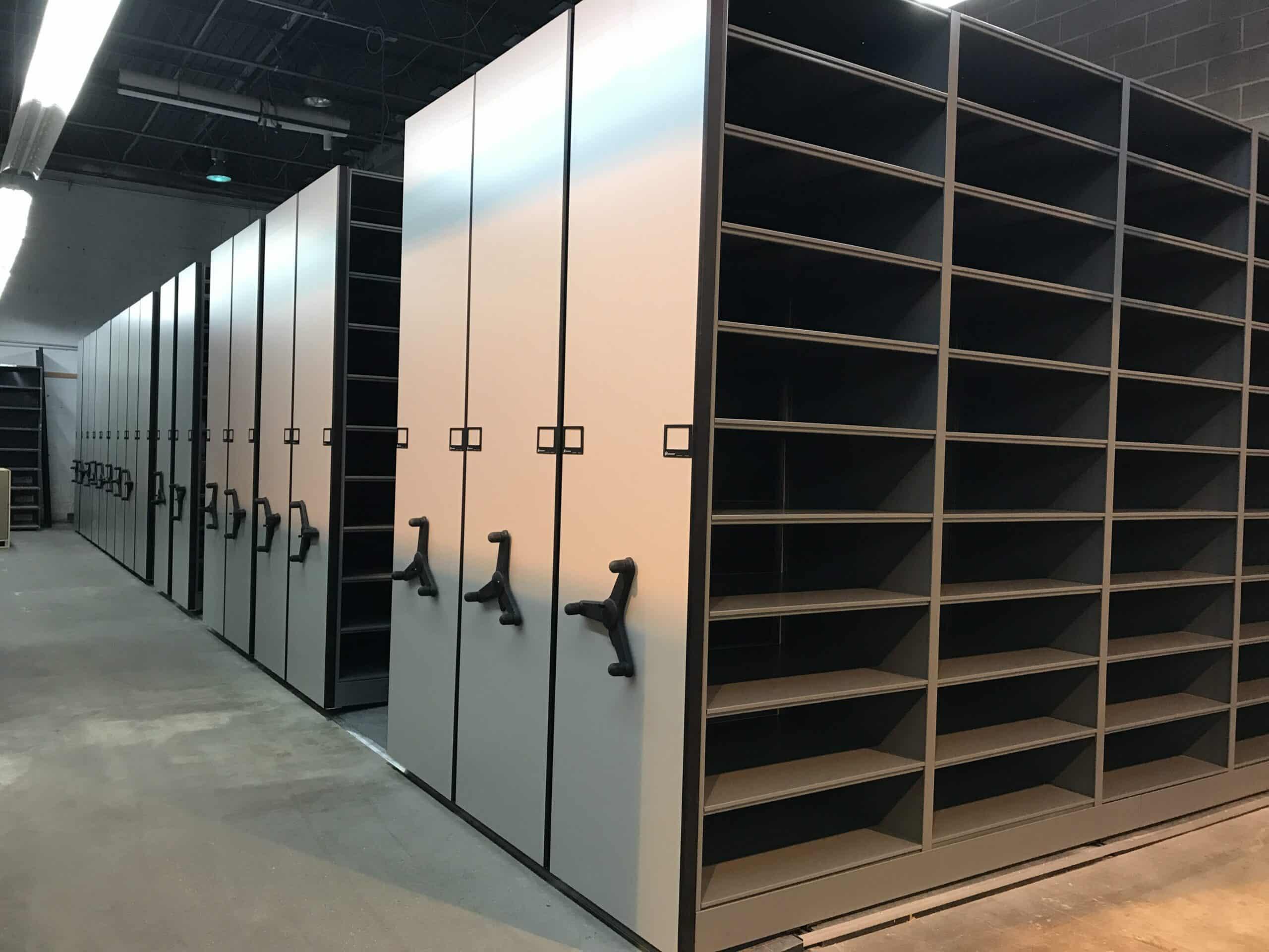 High Density Mobile Shelving Modern Office Systems