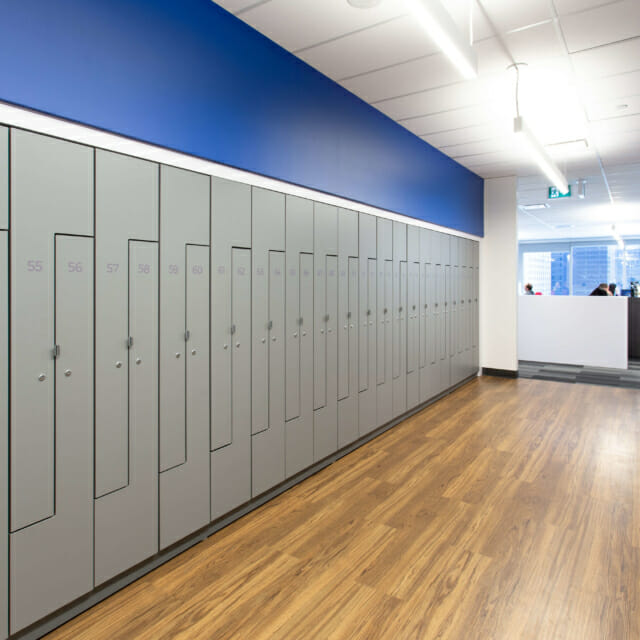 Hamilton Casework Laminate Office Lockers