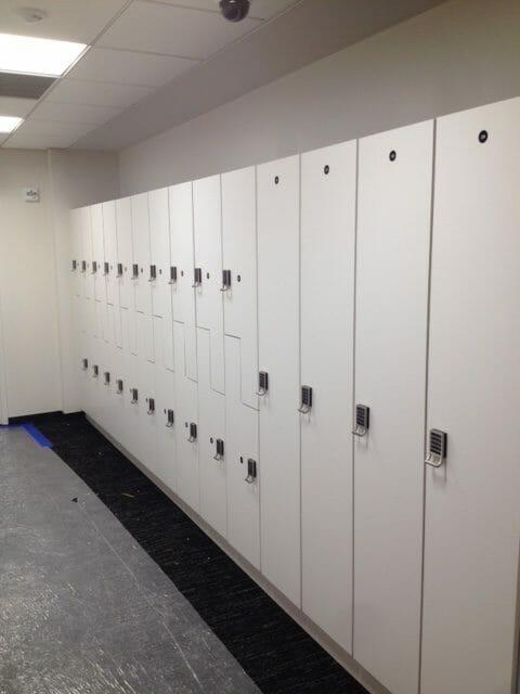 Laminate lockers multiple sizes