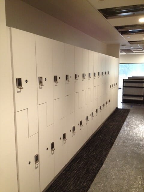 Z lockers with laminate