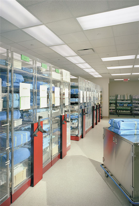 Sterile Supply Mobile Shelving System