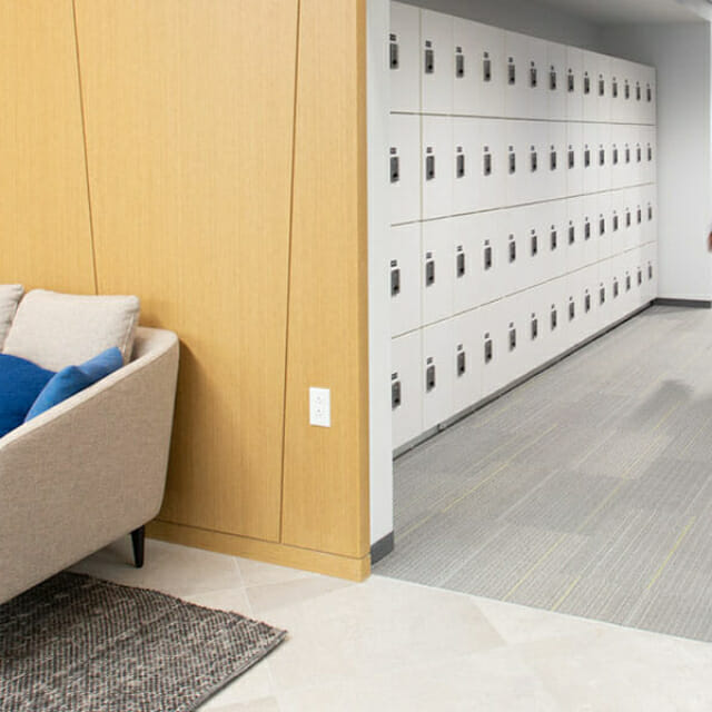 Day Use lockers for employee storage