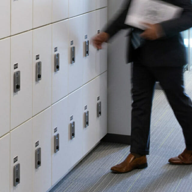 Day Use locker for Agile Workplace Design