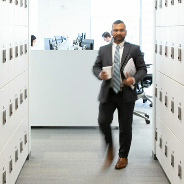 Modern Office New York City Day Use Lockers