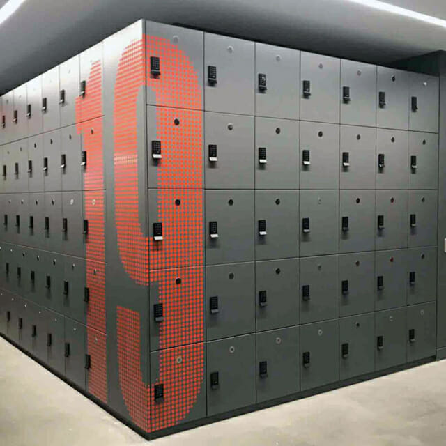 Day Use Lockers in New York City with Graphics