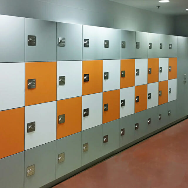day use lockers with unique design and cabinet