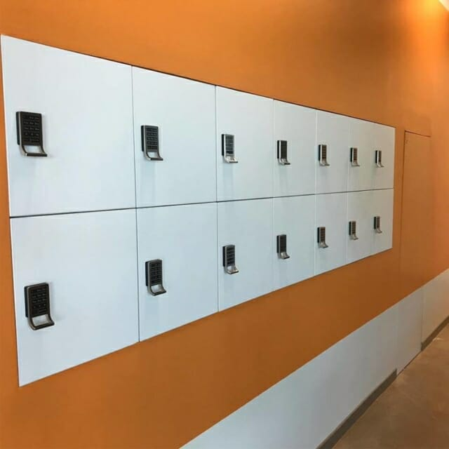 In wall day use lockers