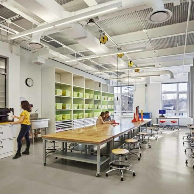 Innovation Lab with Open Shelving Storage