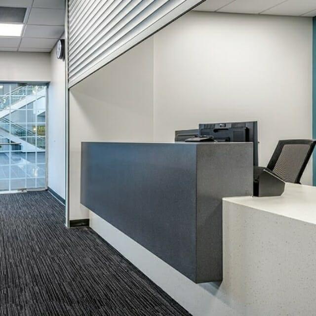 unique desk and reception spaces by Hamilton Casework