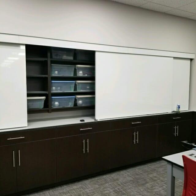 modular casework sliding whiteboards corporate innovation