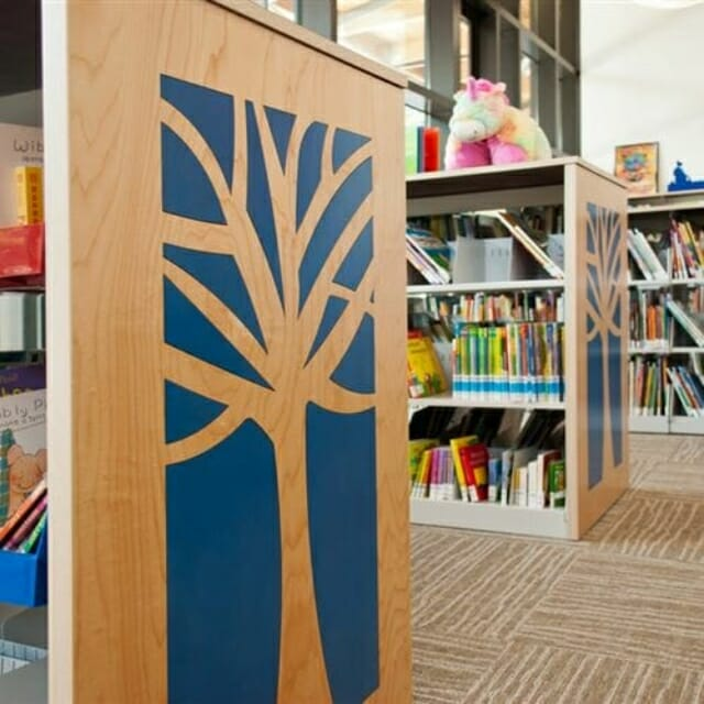 Library Shelving with Designer End-Panels