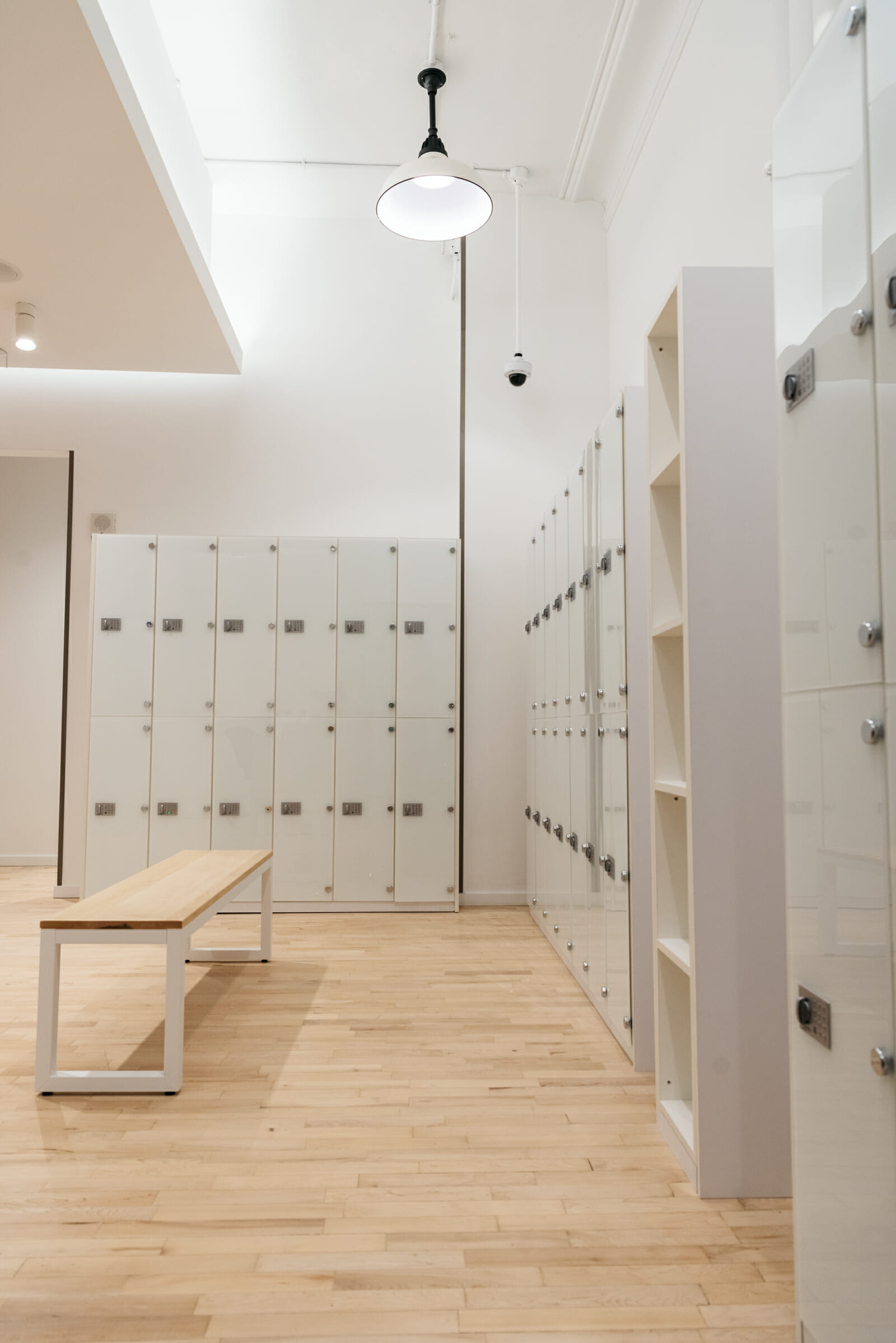 Gym lockers with Becode lock system