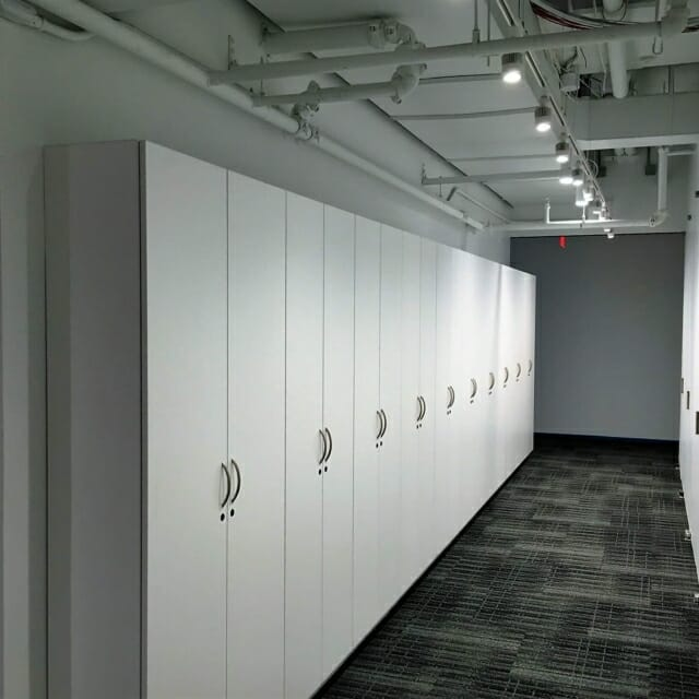 Storage Wall in Workplace Design